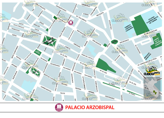 Mapa do Palácio do Arcebispo