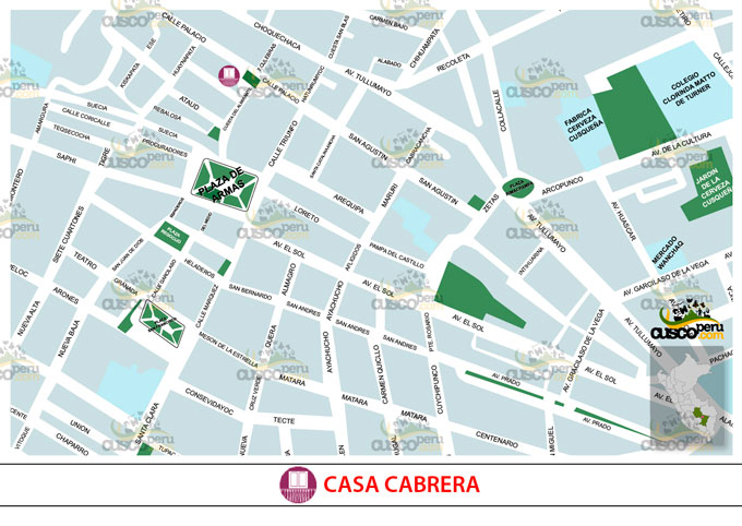Map of Cabrera House