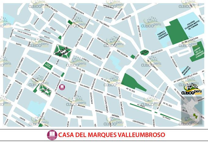 Map of House of the Marqués de Valleumbroso