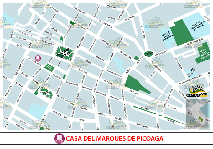 Map of House of the Marques de Picoaga