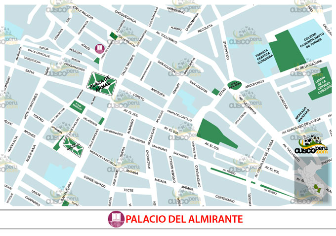 Map of Palace of the Almirante
