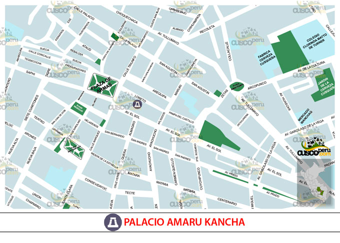 Map Palace Amaru kancha