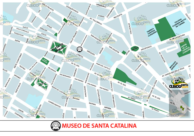 Mapa del Museo do Santa Catalina