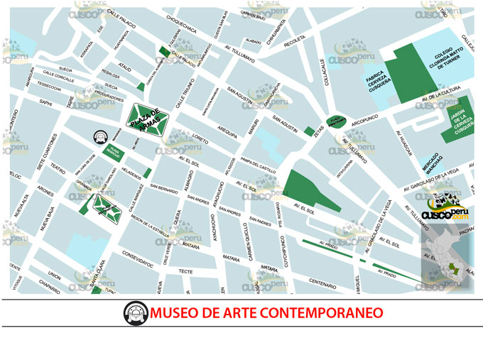 map of contemporary art museum