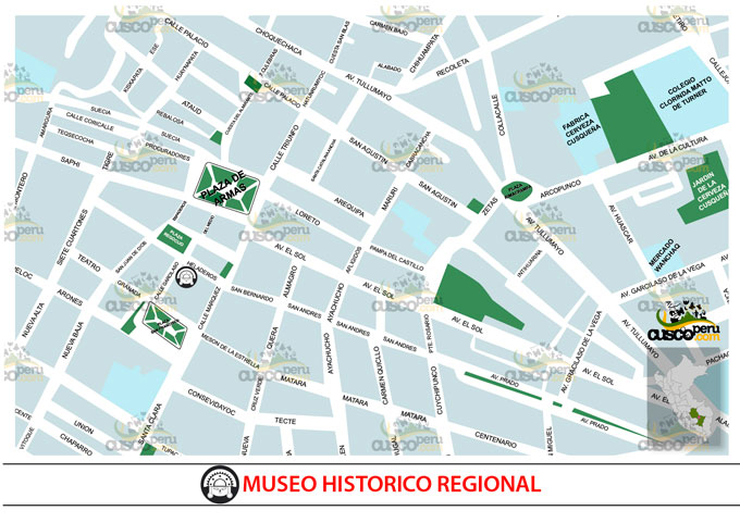 map of regional historical museum