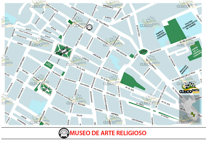 map of religious art museum