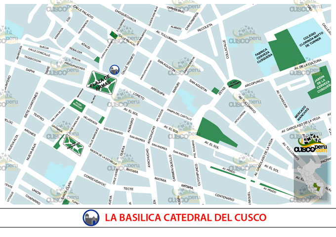 mapa catedral cusco