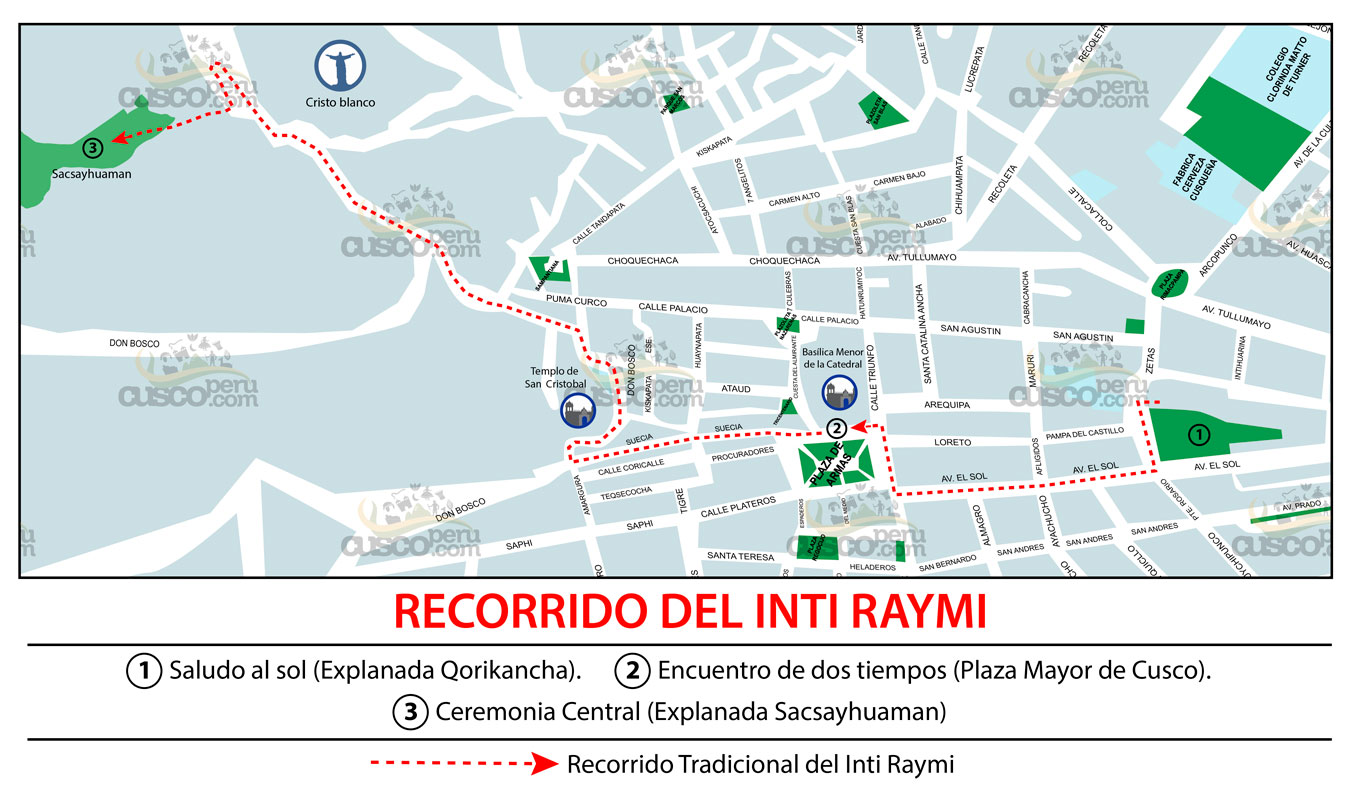 Traditional Route Of The Inti Raymi