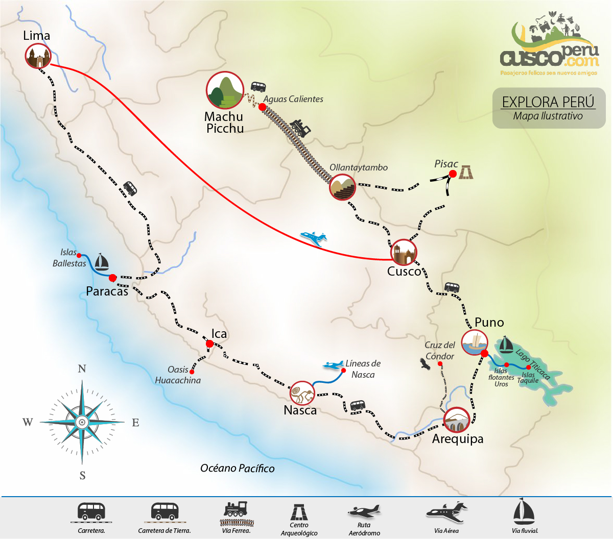 map explore peru trip Itinerary 11 days